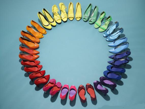Shoe rainbow
