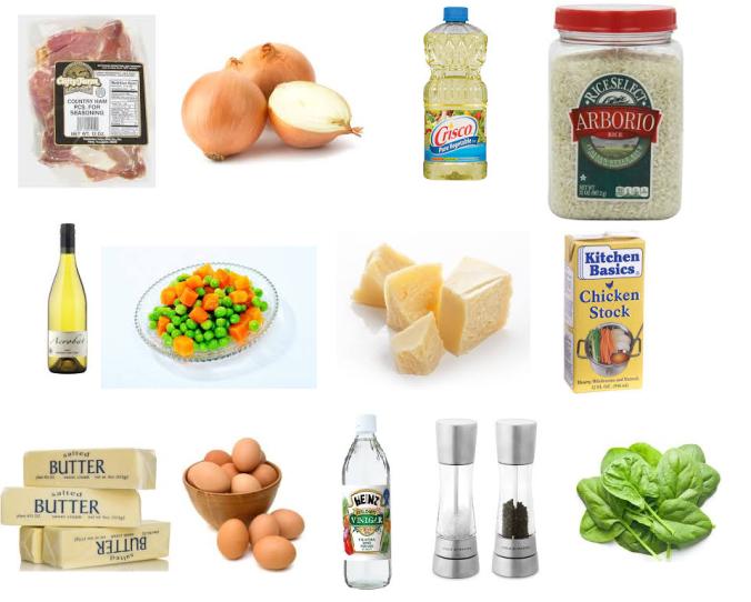 ham egg risotto