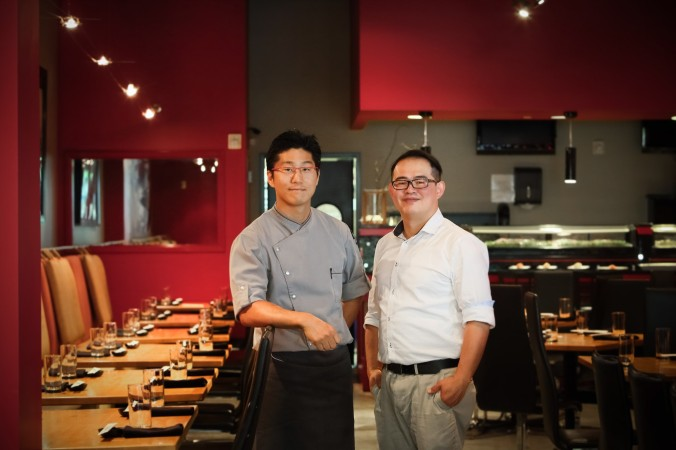 Chef Kim and GM James Yang, Sono-photo by Felicia Perry