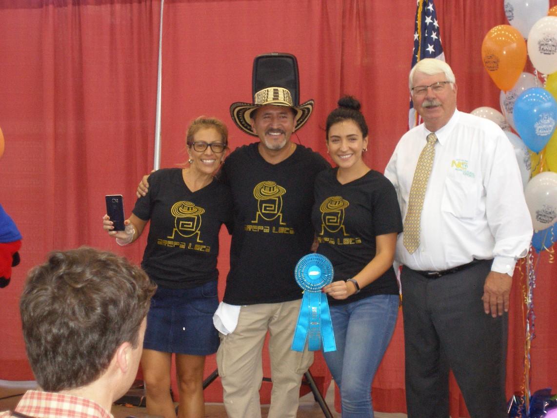 Steve Troxler and new food winner Arepa Loca