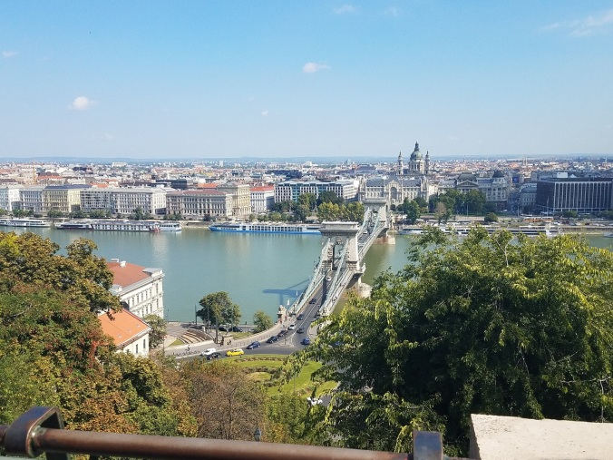 Chain bridge between Buda and Pest, on Buda side